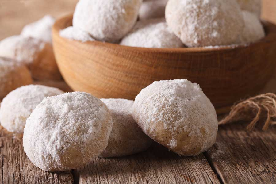 Mexican wedding cookies are a favorite Mexican dessert.