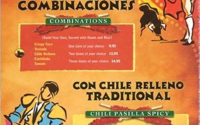 Mexican Food Menu for El Caminito in Sunnyvale CA