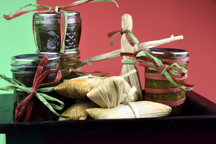 Tamales are a traditional holiday food.